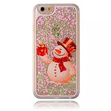 Kompatibilitás iPhone X iPhone 8 iPhone 8 Plus iPhone 7 iPhone 6 iPhone 5 tok tokok Folyékony Átlátszó Minta Hátlap Case Karácsony Kemény