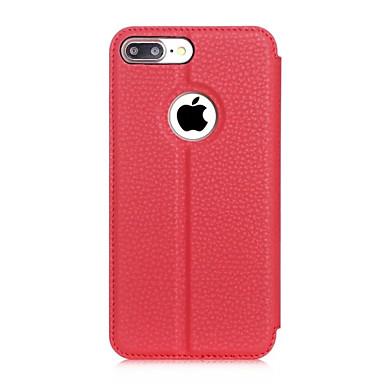 Mert iPhone 7 tok / iPhone 7 Plus tok Állvánnyal / Betekintő ablakkal / Flip Case Teljes védelem Case Egyszínű Kemény Műbőr AppleiPhone 7