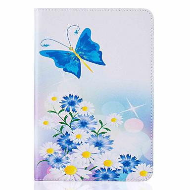 용 카드 홀더 / 스탠드 / 플립 / 패턴 케이스 풀 바디 케이스 버터플라이 하드 인조 가죽 Apple iPad Mini 4 / iPad Mini 3/2/1