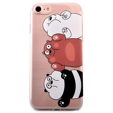 케이스 커버 Apple 용 iPhone 7 아이폰5케이스 iPhone 6 뒷면 커버 투명 패턴 카툰 팬더 소프트 TPU iPhone 7 Plus iPhone 7 iPhone 6s Plus iPhone 6 Plus iPhone 6s iPhone 6