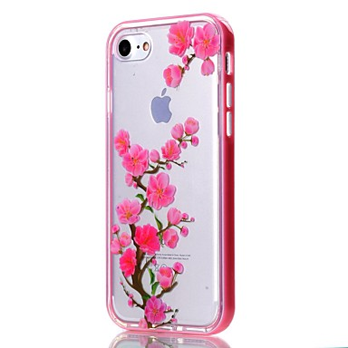 Case For Apple iPhone 5 Case iPhone 6 iPhone 7 Transparent Pattern Back Cover Flower Soft TPU for iPhone 7 Plus iPhone 7 iPhone 6s Plus