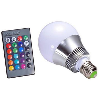 4W 250-320 lm E14 GU10 E26/E27 B22 LED 스마트 전구 A60(A19) 1 LED가 고성능 LED 밝기조절가능 장식 리모컨 작동 RGB AC 220-240V AC 85-265V