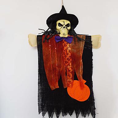 1db halloween kellékek harangok lógni táncoló párt dísztárgyak csontváz fej