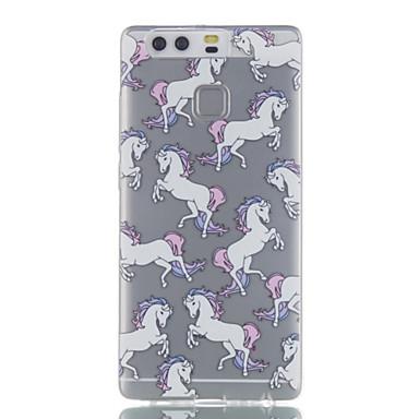 케이스 커버 Huawei 용 뒷면 커버 울트라 씬 투명 패턴 동물 소프트 TPU P9 P9 Lite P8 Lite 용