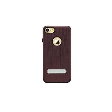 Mert Porálló / Állvánnyal Case Hátlap Case Egyszínű Kemény Valódi bőr Apple iPhone 7 Plus / iPhone 7