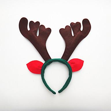 2 개 첫 번째 크리스마스 휴일 파티 헤드 후프 생일 파티 소품을 공급하는 세 개의 뿔 버클