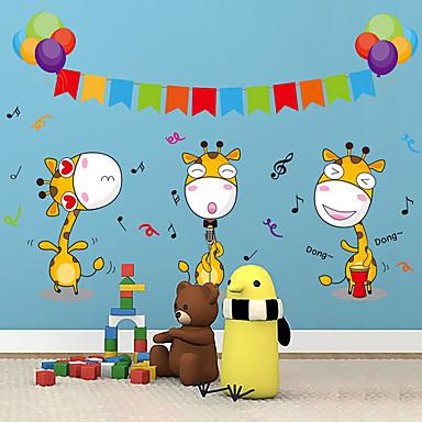 애니멀 / 카툰 / 패션 벽 스티커 플레인 월스티커 데코레이티브 월 스티커,PVC 자료 이동가능 홈 장식 벽 데칼