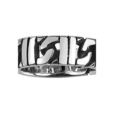 Męskie Pierscionek Modny Stal nierdzewna Stal tytanowa Circle Shape Geometric Shape Biżuteria Codzienny Casual Sport