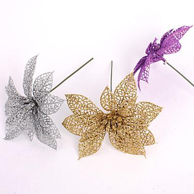 hamis mesterséges műanyag karácsonyi díszek 15cm kimélyít karácsonyi virág karácsonyi virág dekoráció medál 6colors