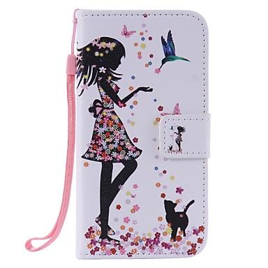 Kılıf Na Samsung Galaxy Etui na karty Portfel Z podpórką Flip Pełne etui Seksowna dziewczyna Twarde Skóra PU na J3 (2016) J3