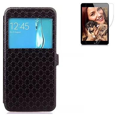 Case Kompatibilitás Samsung Galaxy S7 edge S7 Kártyatartó Pénztárca Állvánnyal Betekintő ablakkal Flip Héjtok Egyszínű Kemény PU bőr mert