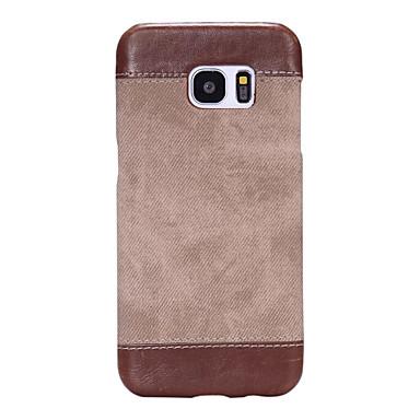 Case Kompatibilitás Samsung Galaxy S7 edge S7 Ultra-vékeny Fekete tok Tömör szín Kemény PU bőr mert S7 edge S7 S6 edge plus S6 edge S6