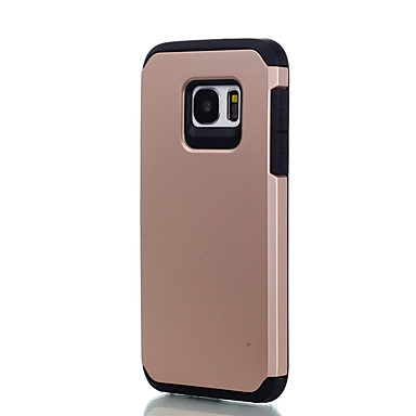 Case Kompatibilitás Samsung Galaxy S7 edge S7 Ütésálló Hátlap Tömör szín Kemény PC mert S7 edge S7 S6 edge S6