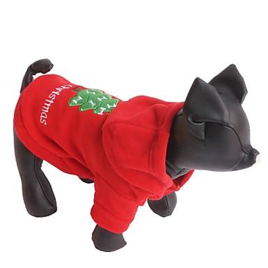 Cica / Kutya Kapucnis felsőrész Kutyaruházat Egyszínű Piros Polár gyapjú Jelmez Háziállatok számára Férfi / Női Karácsony / Újévi