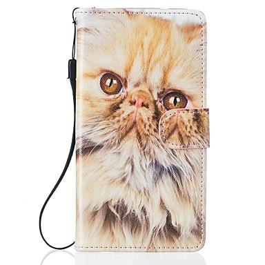 케이스 제품 Samsung Galaxy S7 edge S7 카드 홀더 지갑 스탠드 풀 바디 고양이 하드 인조 가죽 용 S7 edge S7 S6 S5