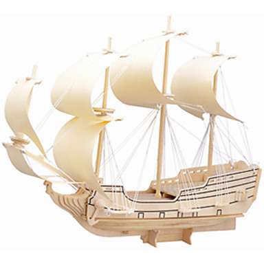 직소 퍼즐 나무 퍼즐 빌딩 블록 DIY 장난감 배 1 나무 크리스탈