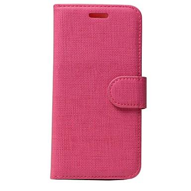 Mert iPhone 7 tok / iPhone 7 Plus tok Kártyatartó / Pénztárca / Flip Case Teljes védelem Case Egyszínű Puha Műbőr AppleiPhone 7 Plus /