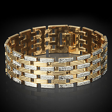 Férfi Női Lánc & láncszem karkötők Divat Arannyal bevont Circle Shape Ékszerek Kompatibilitás Napi Hétköznapi Karácsonyi ajándékok