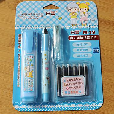 Toll Toll Töltőtoll Toll,Műanyag Hordó Kék Ink Colors For Iskolai felszerelés Irodaszerek Csomag