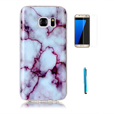 Case Kompatibilitás Samsung Galaxy S7 edge S7 Minta Fekete tok Márvány Puha TPU mert S7 edge S7 S6 edge S6 S5 S4