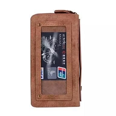 케이스 제품 Samsung Galaxy S7 edge S7 지갑 카드 홀더 풀 바디 한 색상 하드 인조 가죽 용 S7 edge S7