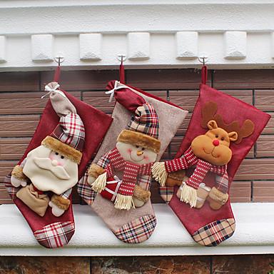 1db Állatok Hóember Santa Harisnya Karácsony Újdonságok Parti, Ünnepi Dekoráció Ünnepi díszek