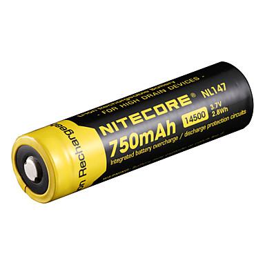 750mAh 3.7V 2.8wh 14500 Akumulator litowo-jonowy NiteCore nl147