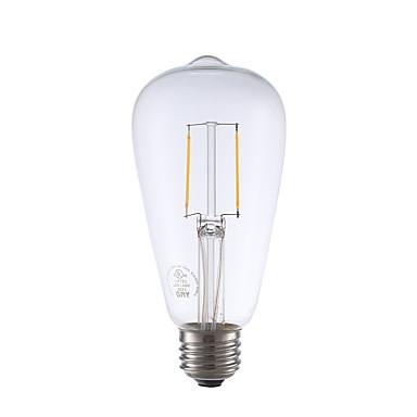 E26 LED-hehkulamput ST21 2 ledit COB Himmennettävissä Koristeltu Lämmin valkoinen 220lm 2700K AC 110-130V