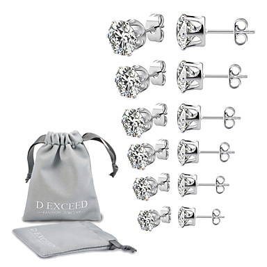 c72152851 cheap Earrings-Men's Women's Cubic Zirconia Solitaire. Men's  Women's Cubic Zirconia Solitaire Stud ...