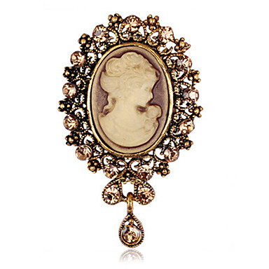 kobiet moda retro stop / Rhinestone kropla wody broszki szpilka stron / dobę klipy szalik biżuteria akcesoria 1szt