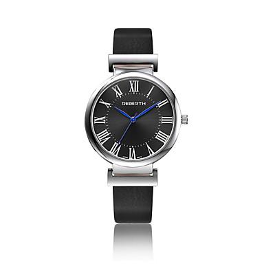 Damskie Zegarek na nadgarstek Modny Kwarcowy Wodoszczelny Skóra Pasmo Na co dzień Czarny Biały Brązowy