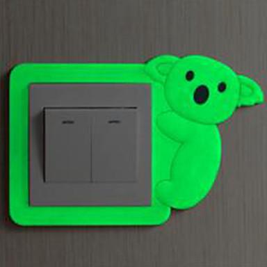 Ζώα Αυτοκολλητα ΤΟΙΧΟΥ Φωτεινά Αυτοκόλλητα Τοίχου Διακοσμητικά αυτοκόλλητα τοίχου Αυτοκόλλητα Διακόπτων Φωτών, Βινύλιο Αρχική Διακόσμηση