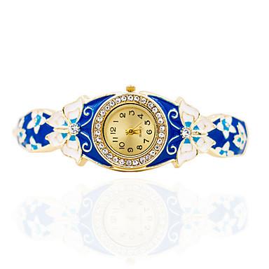 Damskie Zegarek na bransoletce Mechaniczny, nakręcanie ręczne Stop Pasmo Muchy Artystyczny Bransoletka-Kółko Elegancki Złoty Niebieski