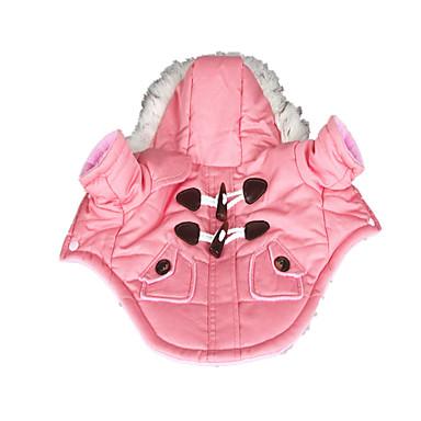 Σκύλος Παλτά Φούτερ με Κουκούλα Ρούχα για σκύλους Ζεστό Διατηρείτε Ζεστό Μονόχρωμο Ροζ Στολές Για κατοικίδια