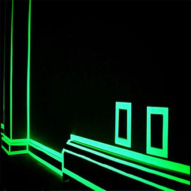 계단 문 오토바이 자동차 발광 테이프 반사에게 녹색 형광 스티커 밤 발광 테이프 스트립 데칼 장식