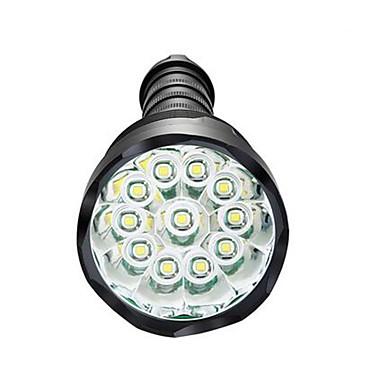 LED Flashlights LED 3800lm 5 إضاءة الوضع تخفيت / ضد الماء / عالية الطاقة Camping / Hiking / Caving / Everyday Use / أخضر