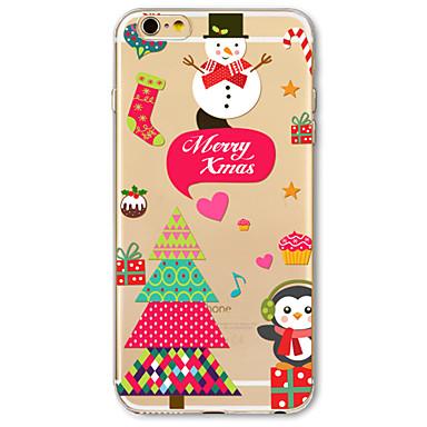 Mert Minta Case Hátlap Case Karácsony Puha TPU Apple iPhone 7 / iPhone 6s/6