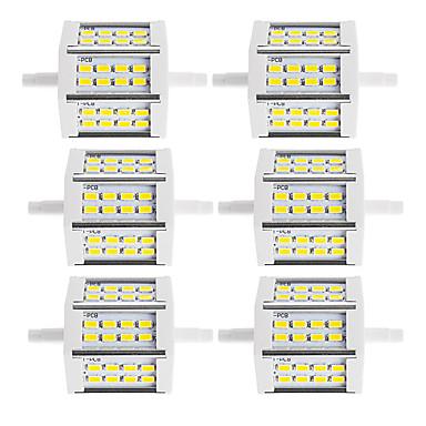 6szt 250-300lm R7S Reflektory LED Rurka 24 Koraliki LED SMD 5730 Dekoracyjna Ciepła biel Zimna biel 85-265V 220-240V