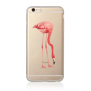 Etui Käyttötarkoitus Apple iPhone X iPhone 8 Plus iPhone 5 kotelo iPhone 6 iPhone 7 Läpinäkyvä Kuvio Takakuori Flamingo Pehmeä TPU varten