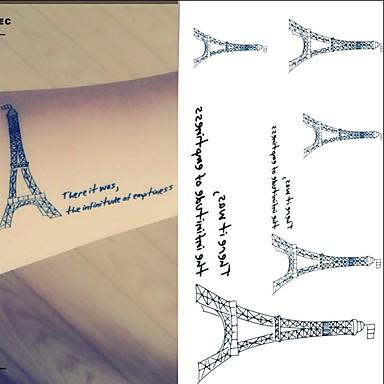 1 Dövme Etiketleri Hayvan Serileri KartonBebek / Çocuk / Kadın / Erkek flaş Dövme geçici Dövme