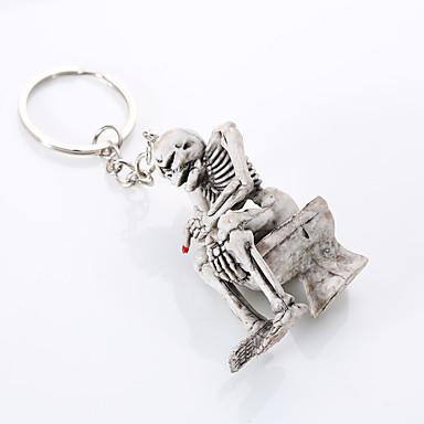 Euroopassa ja Yhdysvalloissa korkeatasoinen laatu avaimenperä luova boutique wc luuranko ripustaa avaimenperään