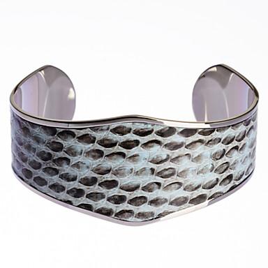 Férfi Női Bilincs karkötők Állítható Nyitva Rozsdamentes acél Bőr Kígyó Ékszerek Parti Különleges alkalom Évforduló Születésnap
