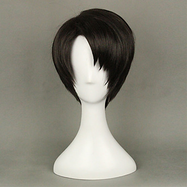 Peruki syntetyczne Prosto Gęstość Bez czepka Damskie Brązowy Karnawałowa Wig Halloween Wig cosplay peruka Krótki Włosy syntetyczne