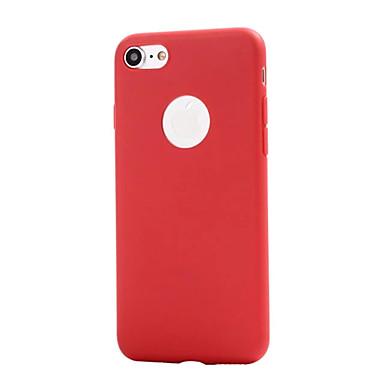 용 반투명 케이스 뒷면 커버 케이스 단색 소프트 TPU Apple 아이폰 7 플러스 / 아이폰 (7) / iPhone 6s Plus/6 Plus / iPhone 6s/6 / iPhone SE/5s/5