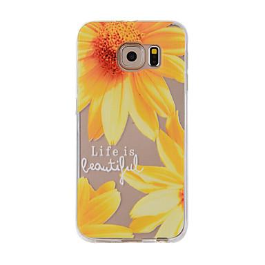 Pouzdro Uyumluluk Samsung Galaxy S7 edge S7 Temalı Arka Kapak Çiçek Yumuşak TPU için S7 edge S7 S6 edge S6 S5 S4