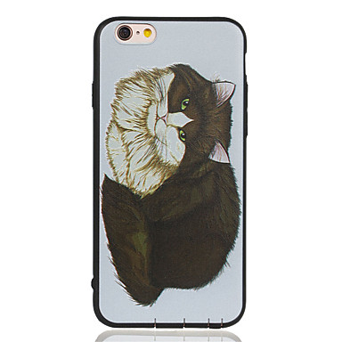 Varten Kuvio Etui Takakuori Etui Kissa Pehmeä TPU varten Apple iPhone 6s Plus/6 Plus / iPhone 6s/6