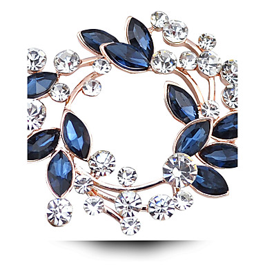 Women's Crystal Brooches - Imitation Diamond, Austria Crystal Luxury Brooch Fuchsia / Golden / White / White For Wedding / Party / Daily