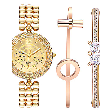 Kadın's Quartz Bilek Saati Bilezik Saat Su Resisdansı Renkli Darbeye Dayanıklı Paslanmaz Çelik Bant Vintage Günlük Bohem Elbise Saat Moda