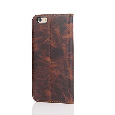 Kılıf Na Apple iPhone 6 iPhone 7 Plus iPhone 7 Etui na karty Z podpórką Pełne etui Solid Color Twarde prawdziwa skóra na iPhone 8 Plus