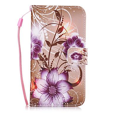 Недорогие Чехлы и кейсы для Galaxy S3 Mini-Кейс для Назначение SSamsung Galaxy S8 Plus / S8 / S7 edge Кошелек / Бумажник для карт / со стендом Кейс на заднюю панель Цветы Твердый Кожа PU